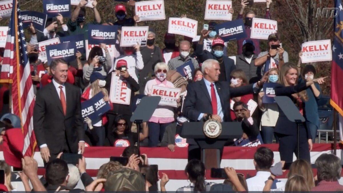 Pence Campaigns for Georgia Senators 1