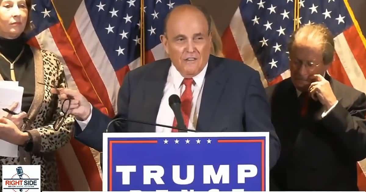 BREAKING: Rudy Giuliani, Sidney Powell Release The Kraken, Give Specific Bombshell Evidence of Voter Fraud 1