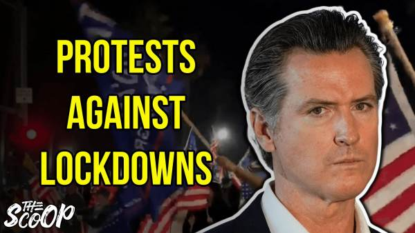 WATCH: Protesters Gather To Rally Against California's New Lockdown Orders (VIDEO) 1
