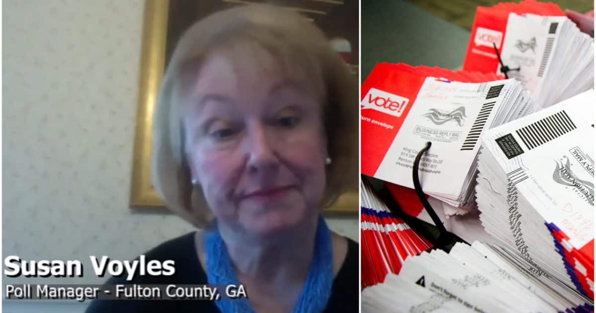 WATCH: Fulton County Poll Manager Susan Voyles Recounts Election Improprieties in Georgia Recount 1