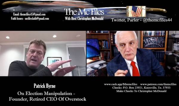 """It's Happening… Former Overstock CEO Patrick Byrne: The Election Was Rigged Deeply – They Used the """"Drop and Roll"""" Technique (VIDEO) 1"""