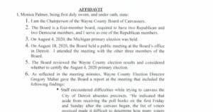 DEVELOPING: Detroit's Election Board Reverses Decision Again, Cites Democrat Threats Against Their Children 1