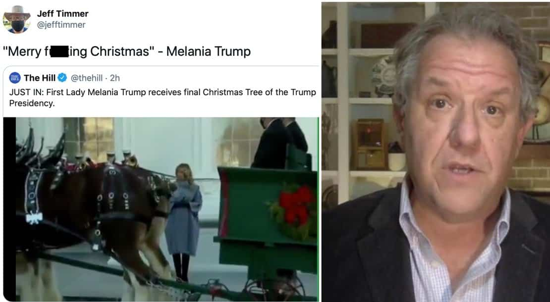 """One Hour Before Fake """"Republican"""" Jeff Timmer Demanded Certification Of MI Vote, He Tweeted: """"Merry F**king Christmas Melania Trump"""" 1"""