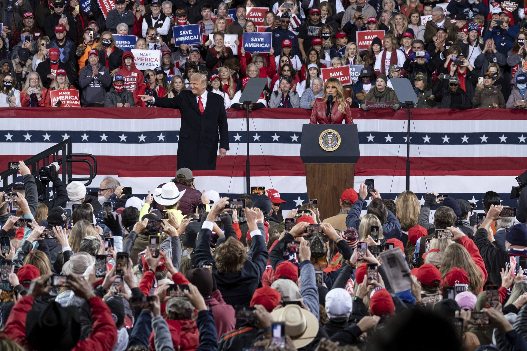 Trump Stumps for Loeffler & Perdue in Georgia While Fighting for the White House 1