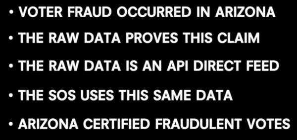 MUST-SEE VIDEO: Voter Fraud Occurred in Arizona – The State Certified Fraudulent Results (VIDEO) 1