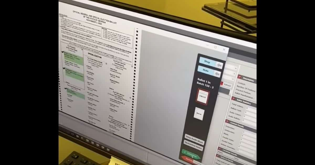 Game-Changing Video Shows Blank GA Ballots Turned Into Votes Using Dominion Machine 1