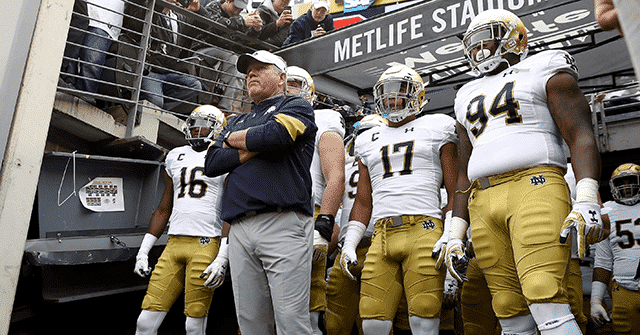WATCH: Notre Dame's Brian Kelly Says Irish May Boycott CFP if California Coronavirus Restrictions Keep Families from Attending 1