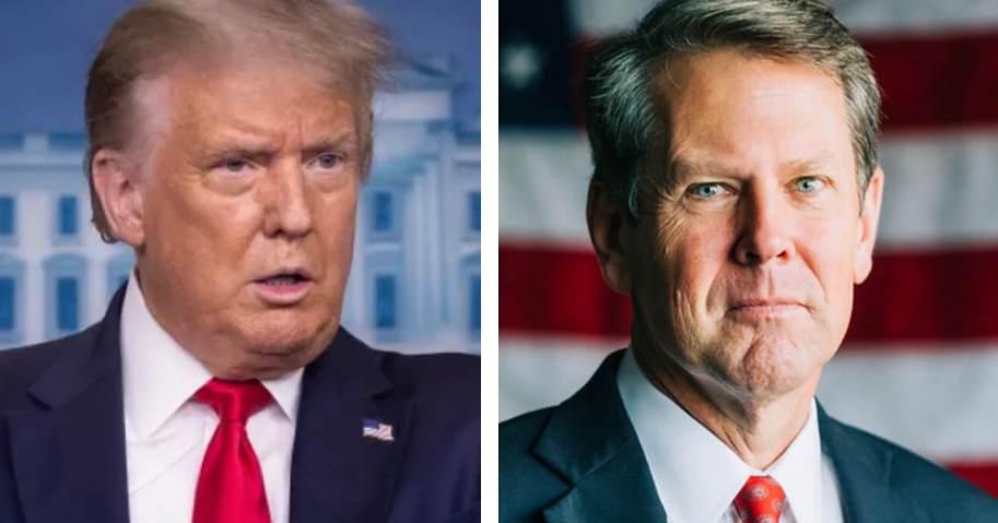 President Trump Calls For Georgia Governor Brian Kemp to Resign 1