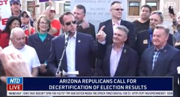 Republican Arizona Legislators Call For Decertification of False Election Results (VIDEO) 1