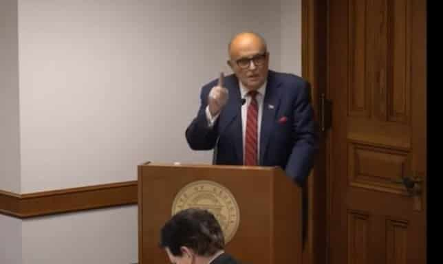 """""""This Stops Right Now!"""" – Rudy Giuliani Testifies on Election Fraud, Urges Georgia Lawmakers to Take Action #StopTheSteal (VIDEO) 1"""