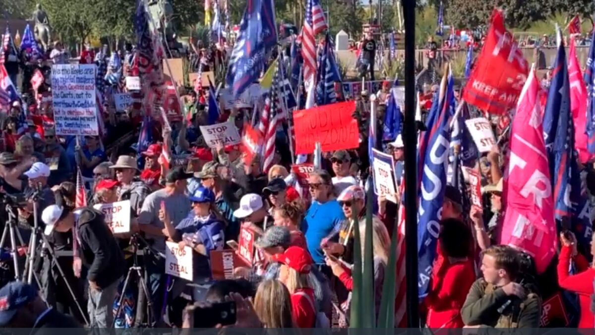 Thousands Gather at 'Stop the Steal' Rally in Arizona 1