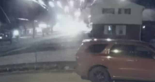 Dramatic Video Shows Bomb Attack On Michigan Trump Supporter's House 1