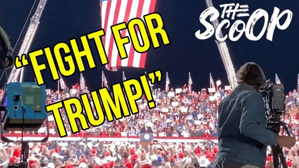 "Crowd Chants ""FIGHT FOR TRUMP"" At Georgia Trump Rally For Republican Senators Perdue And Loeffler 1"