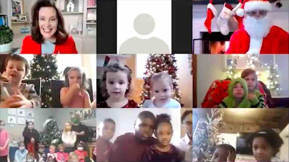 Smiling Democratic Gov. Whitmer appears with Santa in video, urges Michigan children not to visit grandparents for Christmas 1