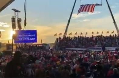 Hah! Trump Trolls Fake News Media at Georgia Rally with Truthful WiFI Login… 1