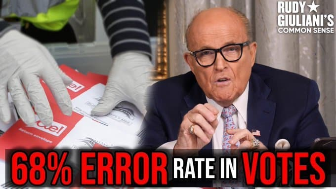 """A 68% Error Rate in Votes Proves Intentional Fraud"" – Trump Attorney Rudy Giuliani Demands Investigation of Systemic Fraud in 2020 Election (VIDEO) 1"