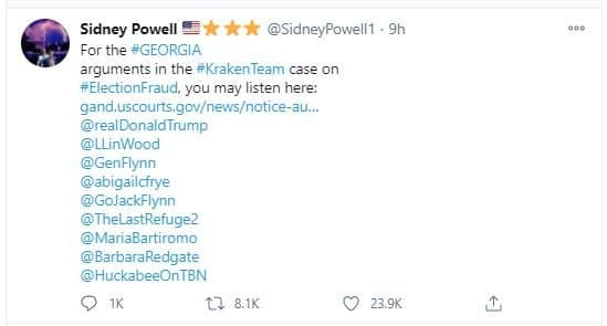 YouTube Link of Today's Voter Fraud Court Hearing in Georgia Is SET TO PRIVATE After Sidney Powell Promoted It — What the Hell is Going On? 1