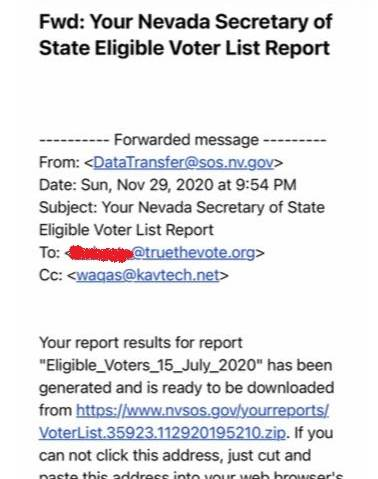 Evidence of Foreign Influence in 2020 Election: Nevada Secretary of State Caught Sending Voter Data List to Pakistani Firm Linked to ISI 1