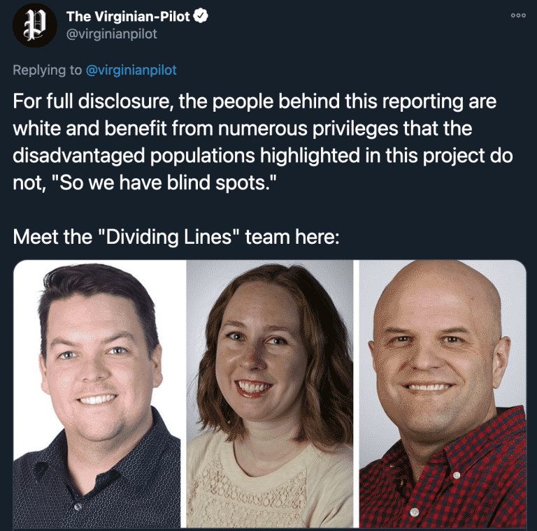 Virginia Paper Warns of White 'Privileges' and 'Blind Spots' in Reporting 1