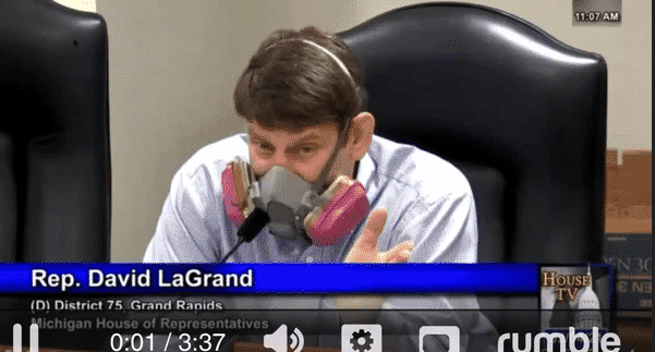VIDEO: 'Pandemic Superhero' Named 'COVID Man' Attends Michigan House Oversight Committee, Mocks Them To Their Faces 1