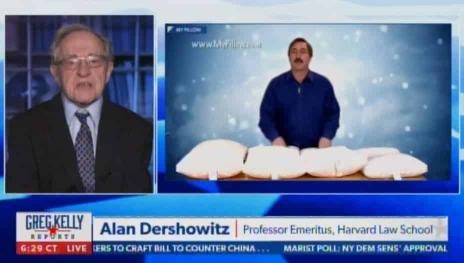 """I Don't Think They're Going to Get Any Pillows Out of This"" – Alan Dershowitz Defends Mike Lindell in Dominion's $1.3 Billion Lawsuit Against Him (VIDEO) 1"