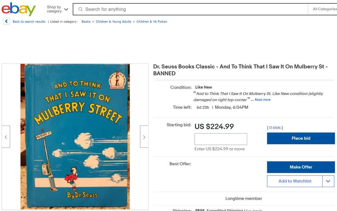 Auction Giant eBay Still Sells 'I Read Banned Books' Swag While It's Trying to Ban Books 1