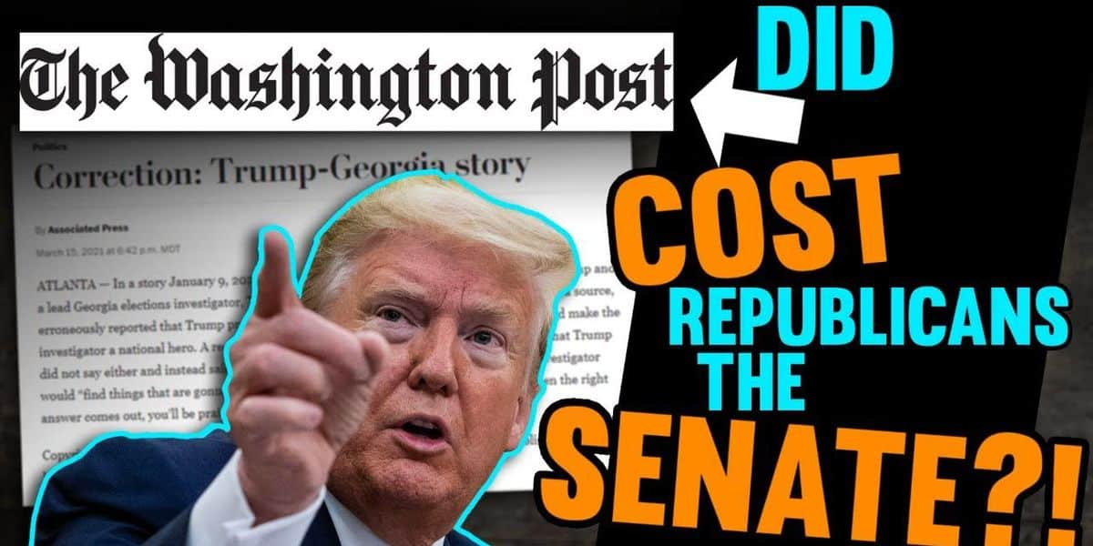 Washington Post admits it 'misquoted' President Trump in Georgia election story — TWO months later 1