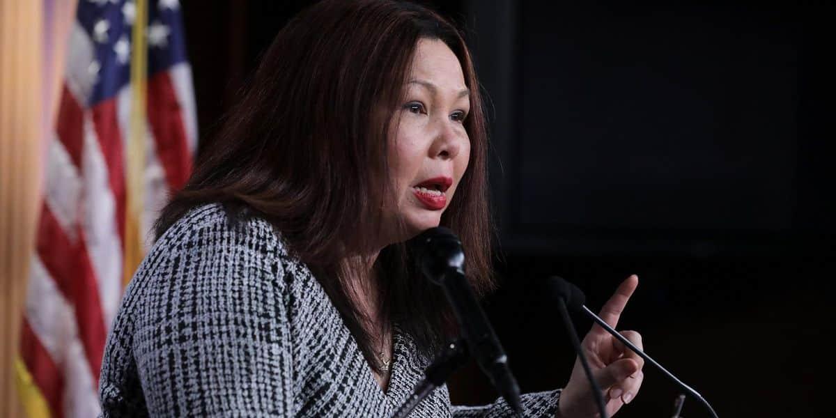 Dem Sen. Tammy Duckworth vows to vote 'no' on all white, straight Biden nominees until an Asian is picked 1