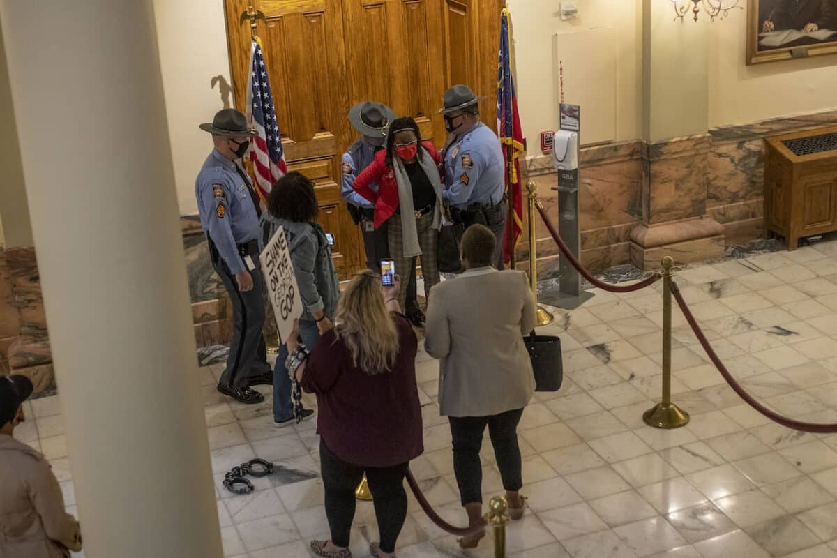 Georgia Lawmaker Arrested at State Capitol Shortly After State Election Reform Bill Signed Into Law 1