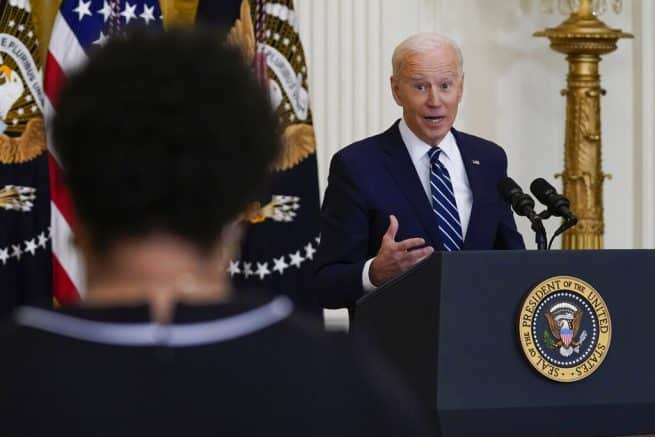 Biden repeats Dem talking points calling filibuster, GOP election measures 'racist' 1