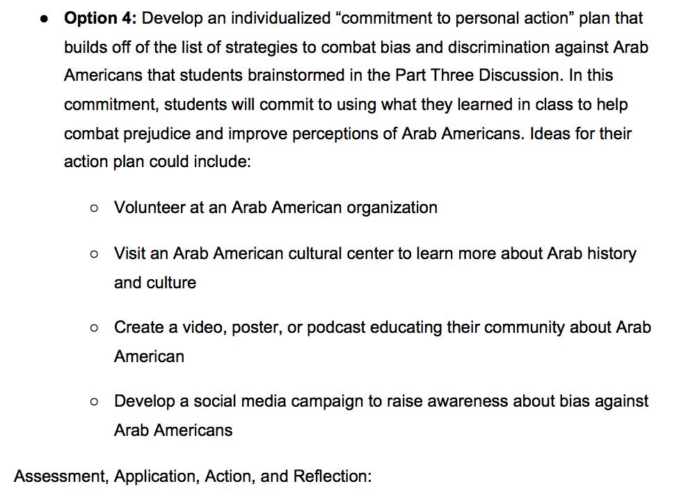California Ethnic Studies Curriculum Pushes Students to Volunteer at Arab-American Organizations 1