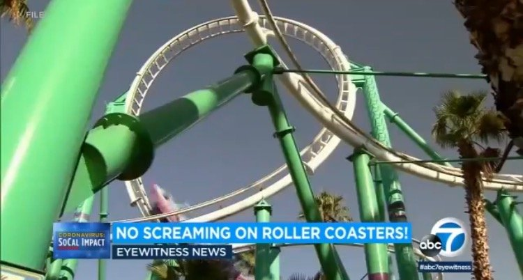 California Theme Parks Tell Visitors: No Screaming or Heavy Breathing on Roller Coasters 1
