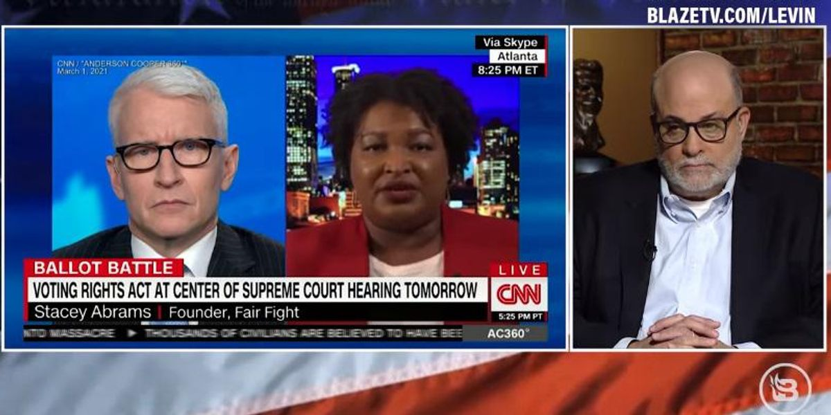 'Democracy is NOT anarchy': Mark Levin dismantles Stacey Abrams' push to overhaul US elections 1