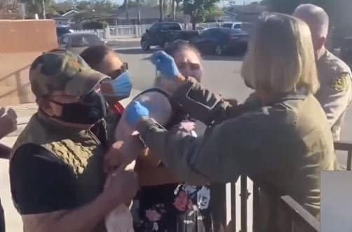 Horror! California Officials Force Crying Mentally Handicapped People to Get COVID Vaccinations (VIDEO) 1