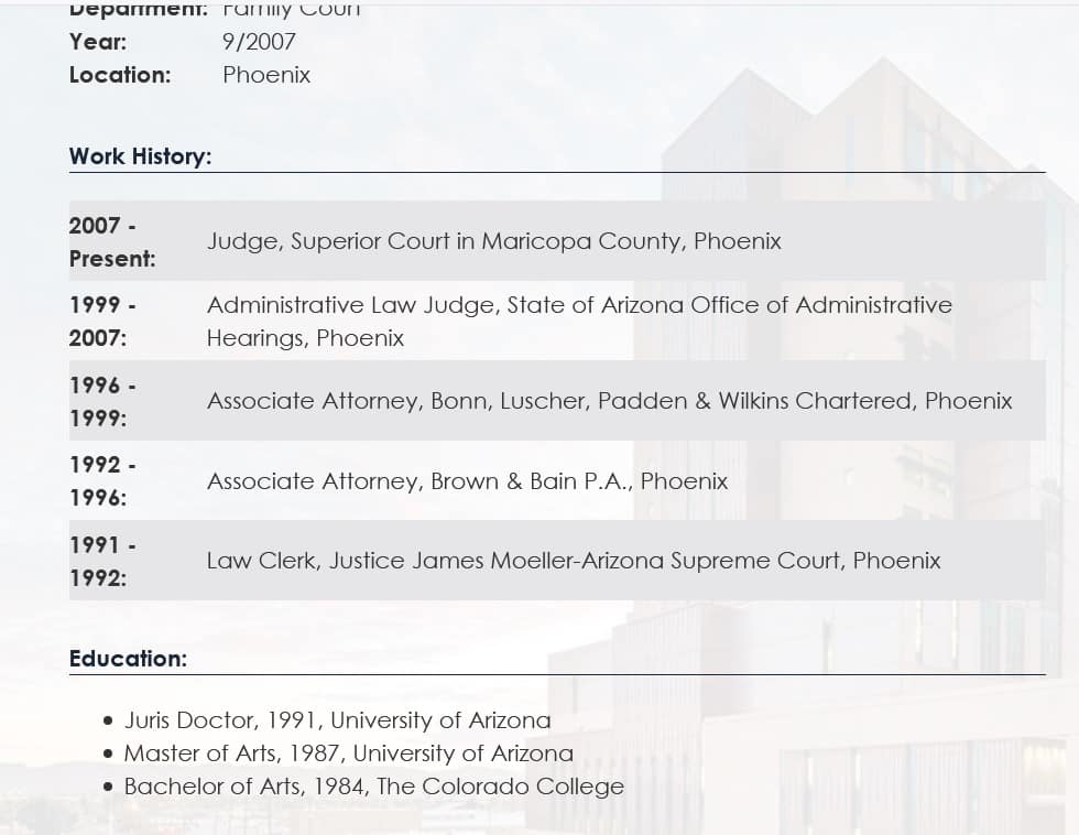 New Judge In Maricopa County Audit Worked For Firm That Merged With Perkins Coie 1