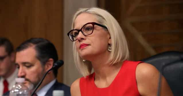 Arizona Democrat Sen. Kyrsten Sinema Takes Heat From Far-Left Groups for Filibuster Stance 1