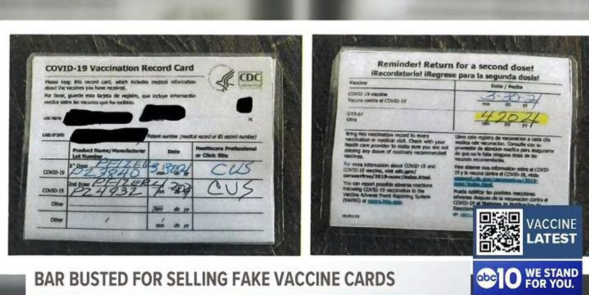 California bar owner hit with felony charges for allegedly selling fake COVID-19 vaccine cards 1