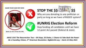STOP THE $DOLLAR$ Campaign: #UNRIG Elections and Flush the Corrupt DNC and GOP 1