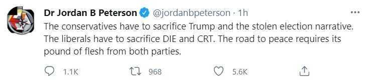 Jordan Peterson Demands for Conservatives to 'Sacrifice Trump and Stolen Election' Concerns 1