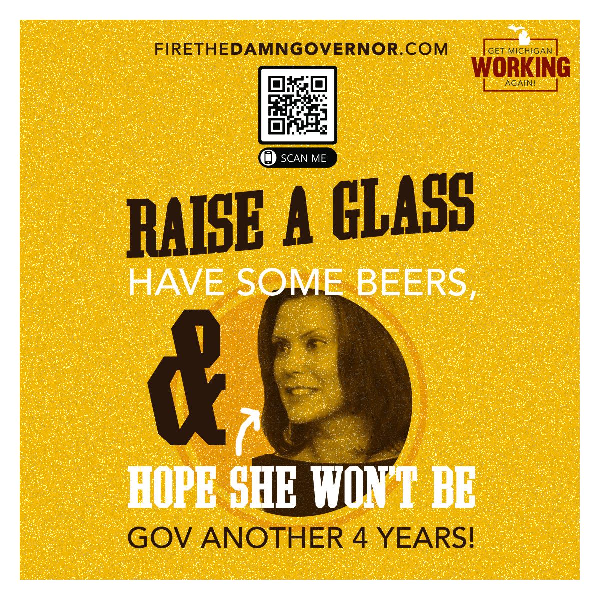 GOP Distributes Anti-Gretchen Whitmer 'Fire the Damn Governor' Coasters to Michigan Bars 1