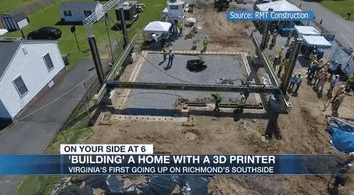 """Virginia's First 3D-Printed Home Under Construction Amid """"Hyperinflating"""" Housing Market 1"""