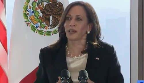 """""""I Voted For You!"""" - Mysterious """"Journalist"""" Fawns Over Kamala Harris At Mexico Press Briefing 1"""