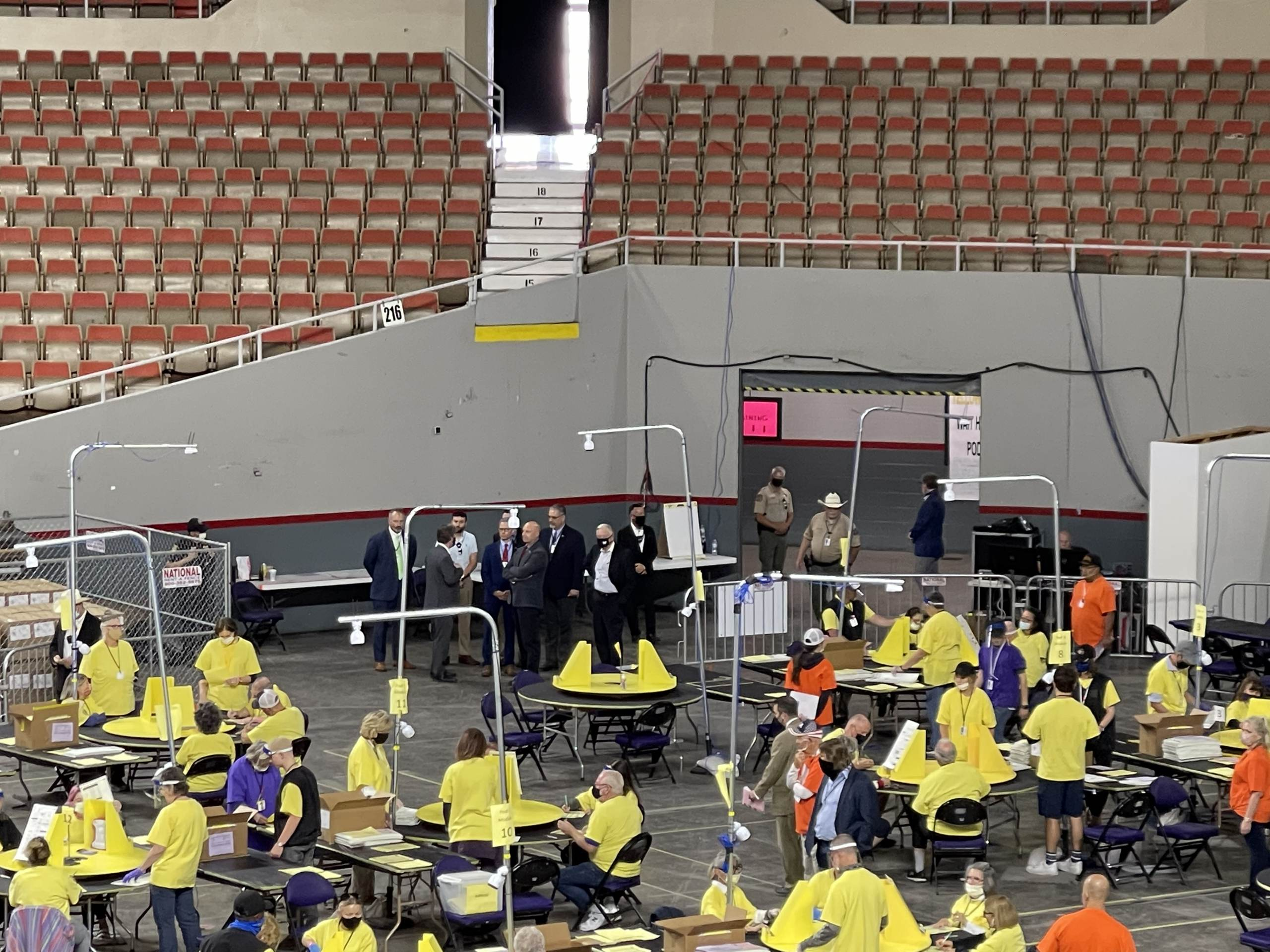 EXPLOSIVE: Pennsylvania Delegation Given Tour of Audit Floor In Maricopa County Arizona 1