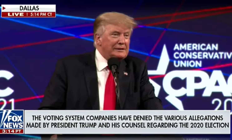 WATCH: Fox News Runs Disclaimer From Dominion While Airing Trump's Speech 1