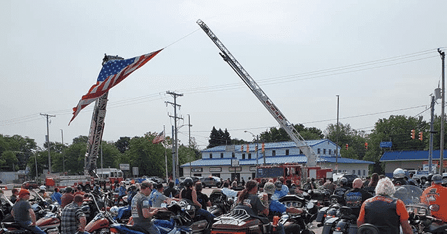 WATCH: Bikers Gather for Back the Blue Rally in Pennsylvania 1