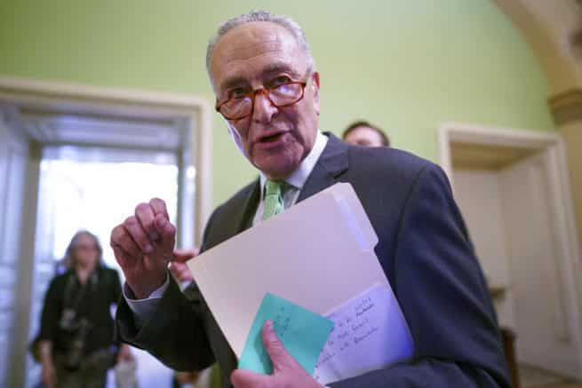 Sen. Schumer moves for test vote on infrastructure bill without telling senators what it contains 1