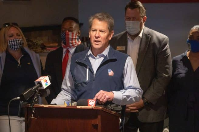 Gov. Kemp: Harris, Biden lying about Ga. election integrity law 1