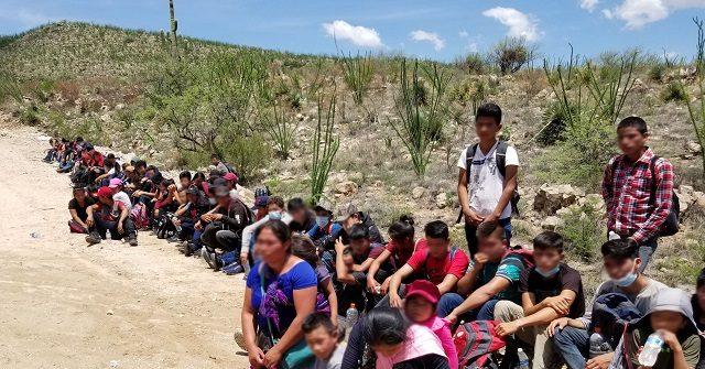 Large Group of Migrant Children Abandoned in Arizona Desert near Border 1