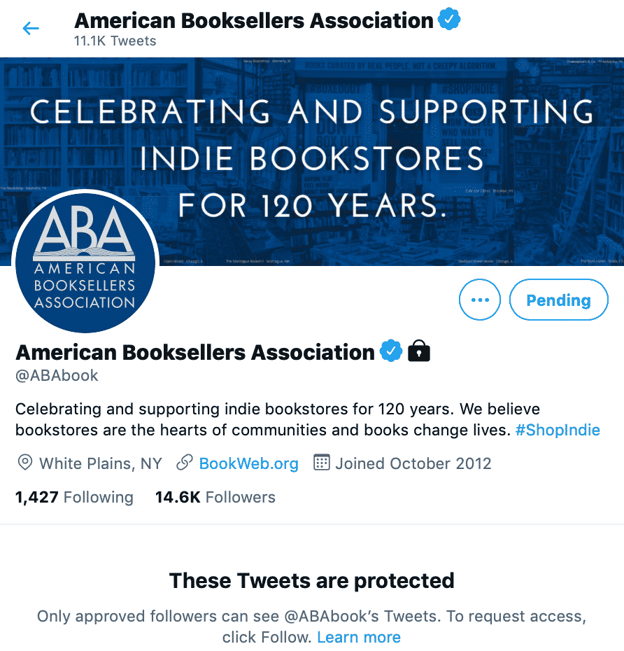 American Booksellers Association 'Protects' Twitter Account After Censorship Backlash 1
