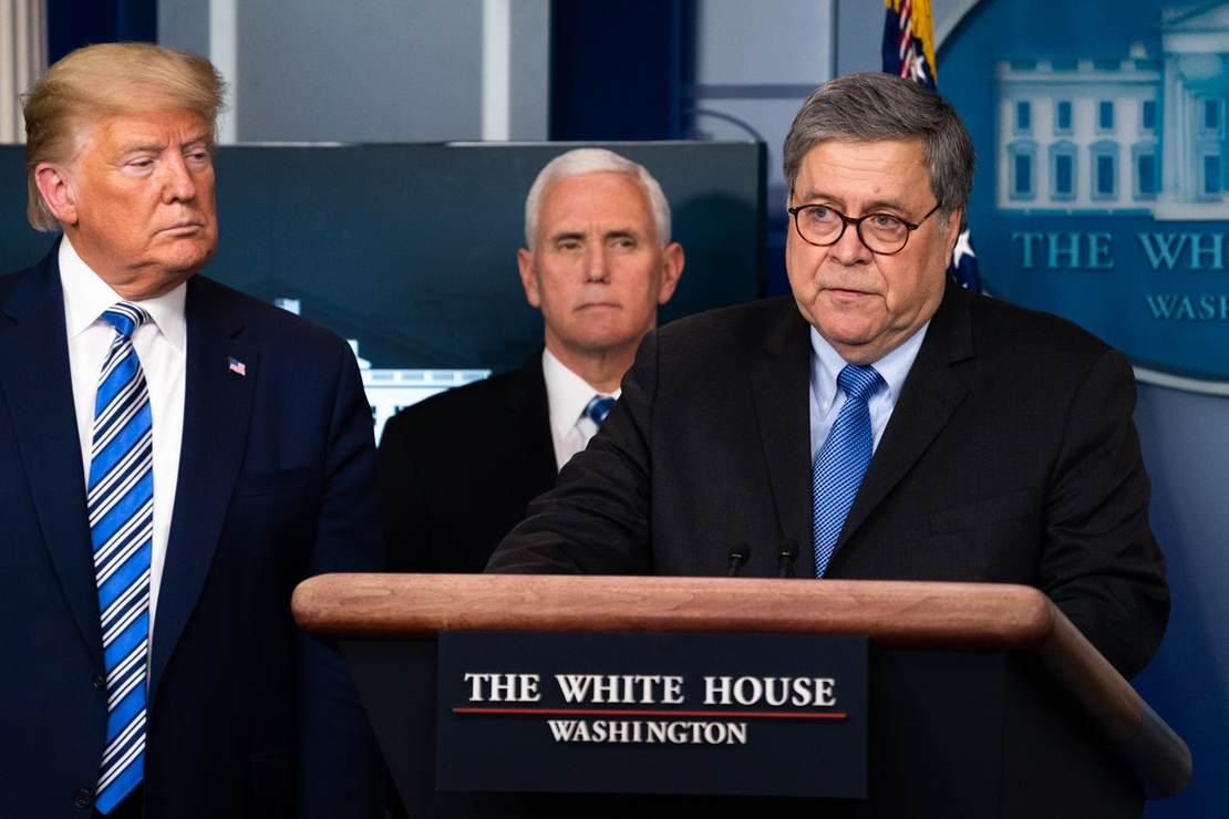 AG Barr's Handling of Election Fraud Claims Slammed by Ex-U.S. Attorney in Letter Released by Trump 1